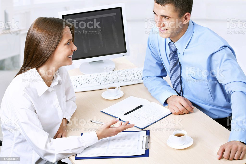 Collegues royalty-free stock photo