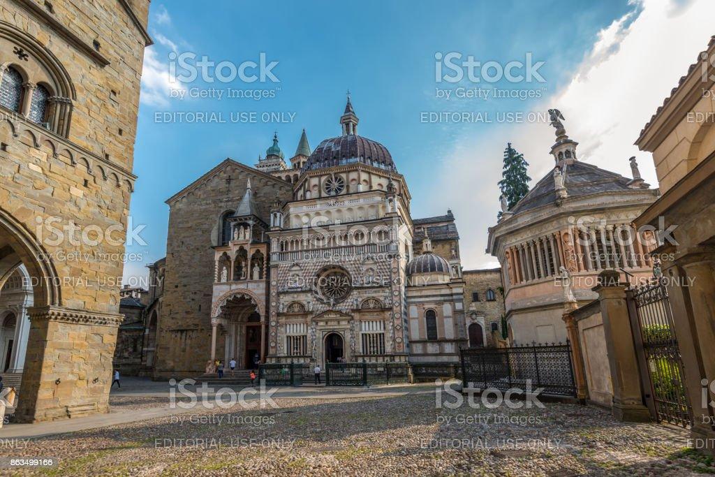 Capilla Colleoni (iglesia y Mausoleo), Bérgamo, Italia - foto de stock