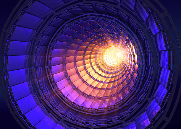 Collider Inside the collider or tunnel large hadron collider stock pictures, royalty-free photos & images