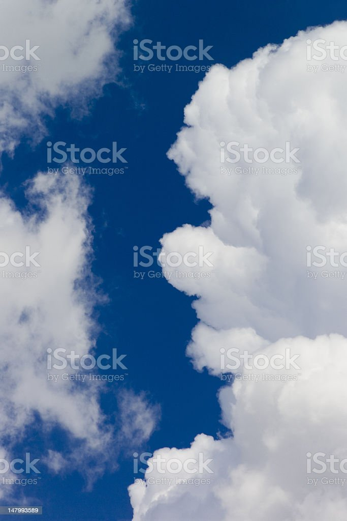 Colliding Clouds royalty-free stock photo