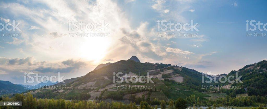 collina di bobbio stock photo