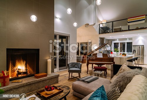 470812928 istock photo Collingwood Cottage Open Concept Interior 466190438