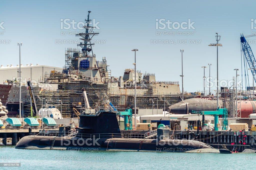 ASC Collins Class submarine stock photo
