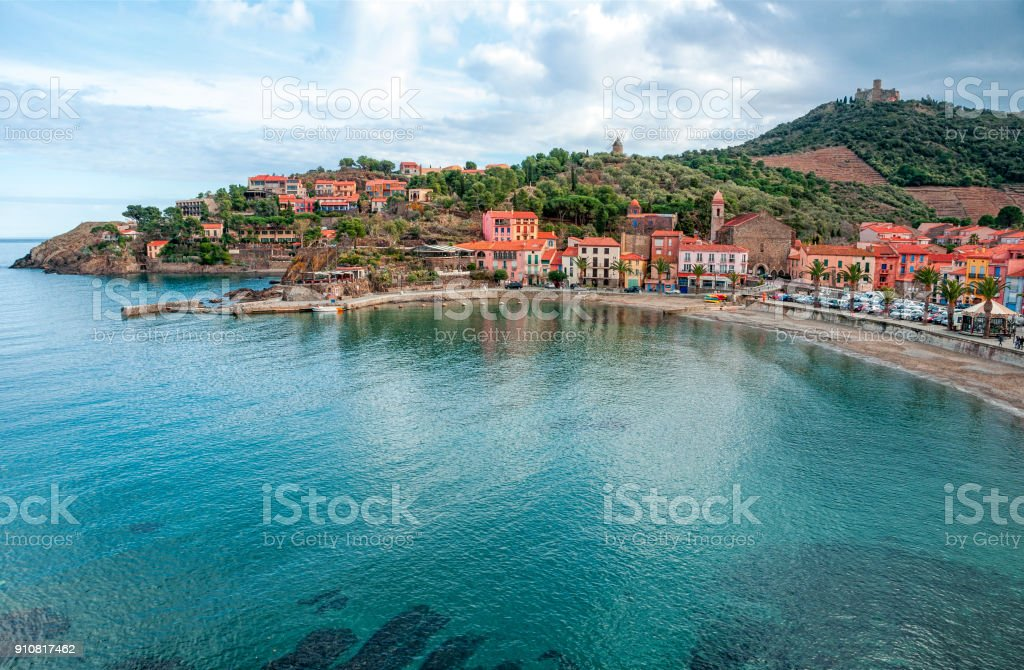 Collioure, France. French regions Languedoc-Roussillon and Midi-Pyrénées. Occitanie . stock photo