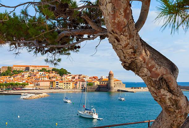 Collioure, France stock photo
