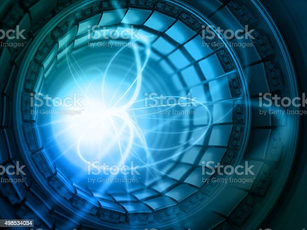 Collision Of Particles In The Abstract Collider Stock Photo - Download Image Now