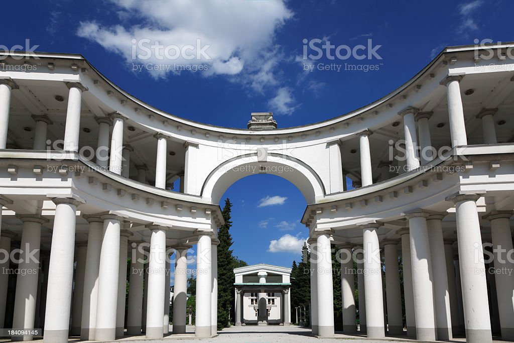 Collonade in  Lubljana royalty-free stock photo