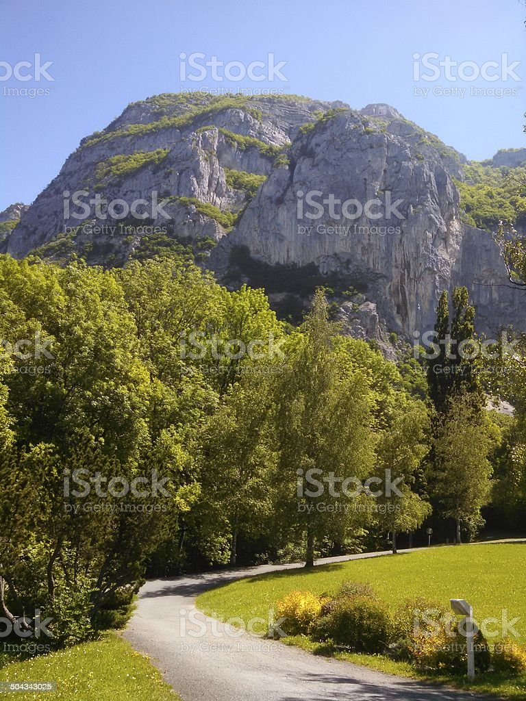 Collonges-sous-Saleve Cliffs and Mountain near Annemasse France royalty-free stock photo