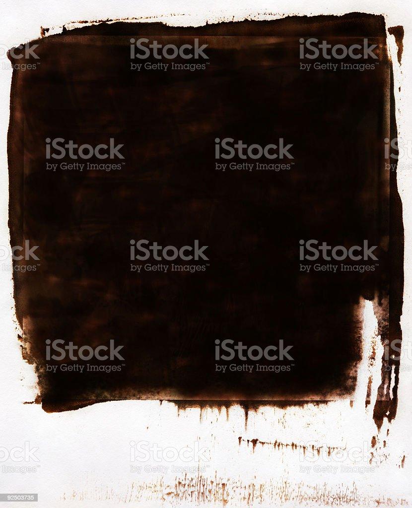 Collotype-Border-Brown royalty-free stock photo