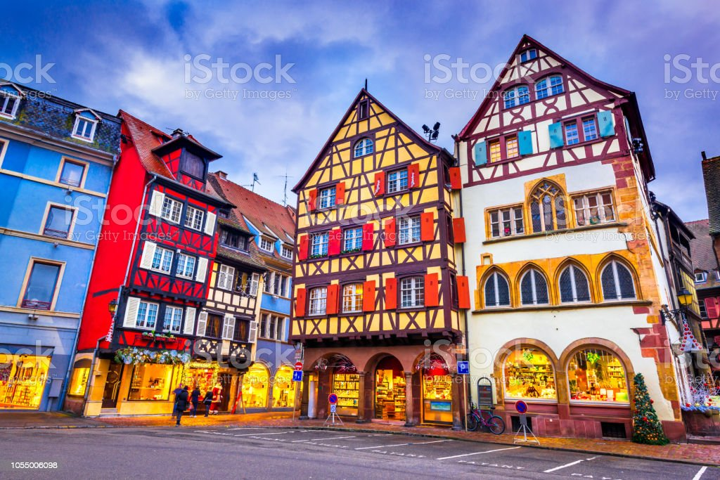 Colmar Natale.Colmar Christmas City In Alsace France Stock Photo