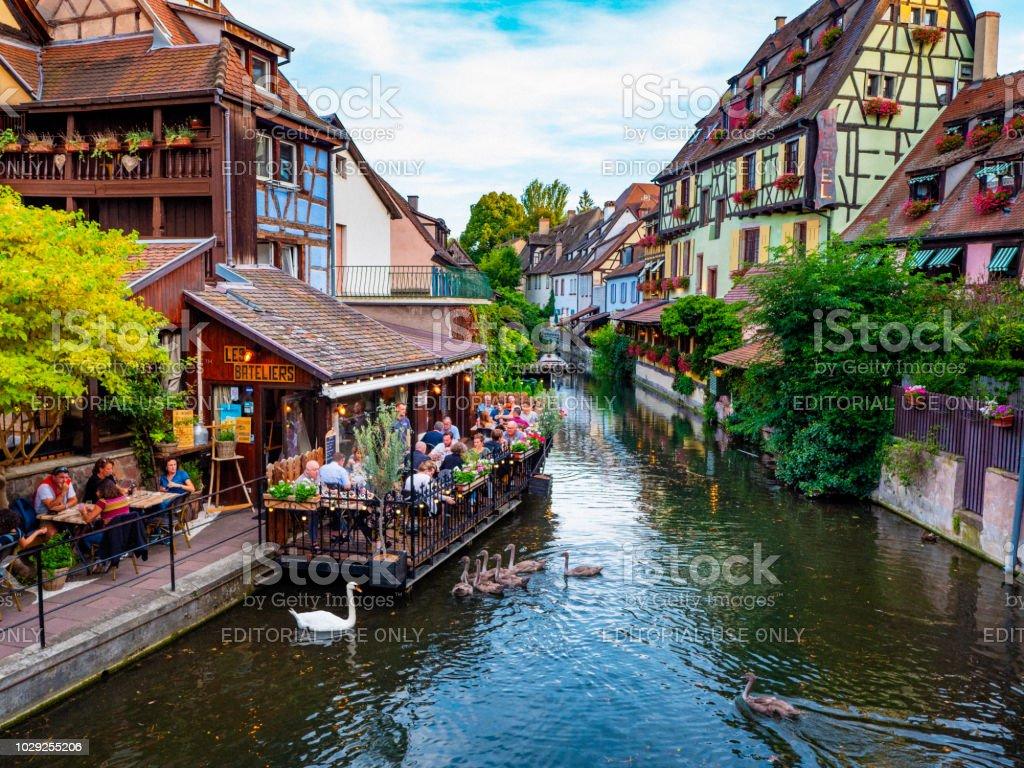 Colmar Petite Venice Alsace France stock photo