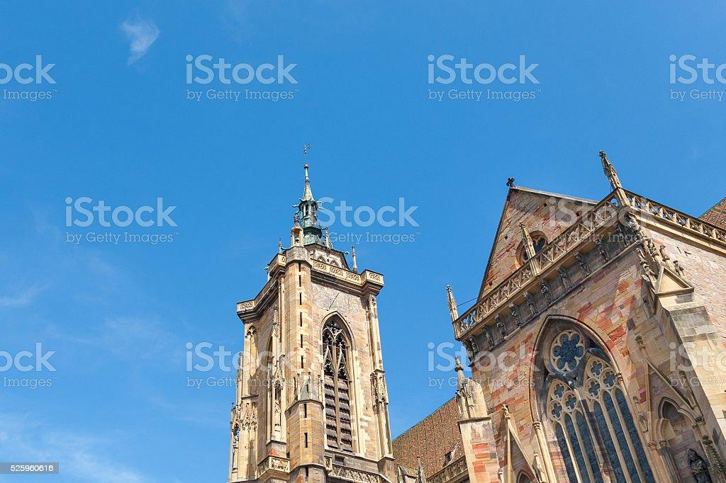 Colmar, St Martin's Church, Alsace, France. stock photo
