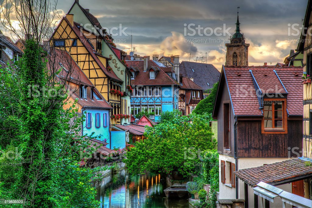 Colmar sunset royalty-free stock photo