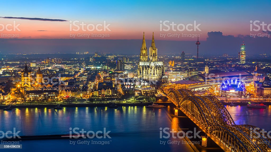 Cologne at dusk - Royalty-free 2015 Stock Photo
