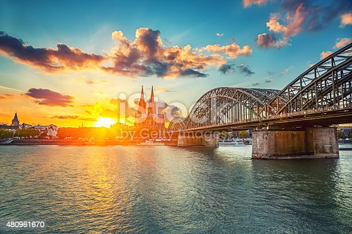 istock Cologne at sunset 480961670