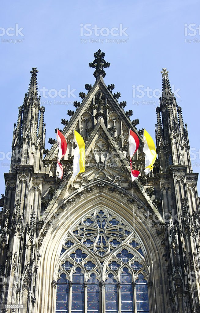 Cologne cathedral aginst blue sky. royalty-free stock photo