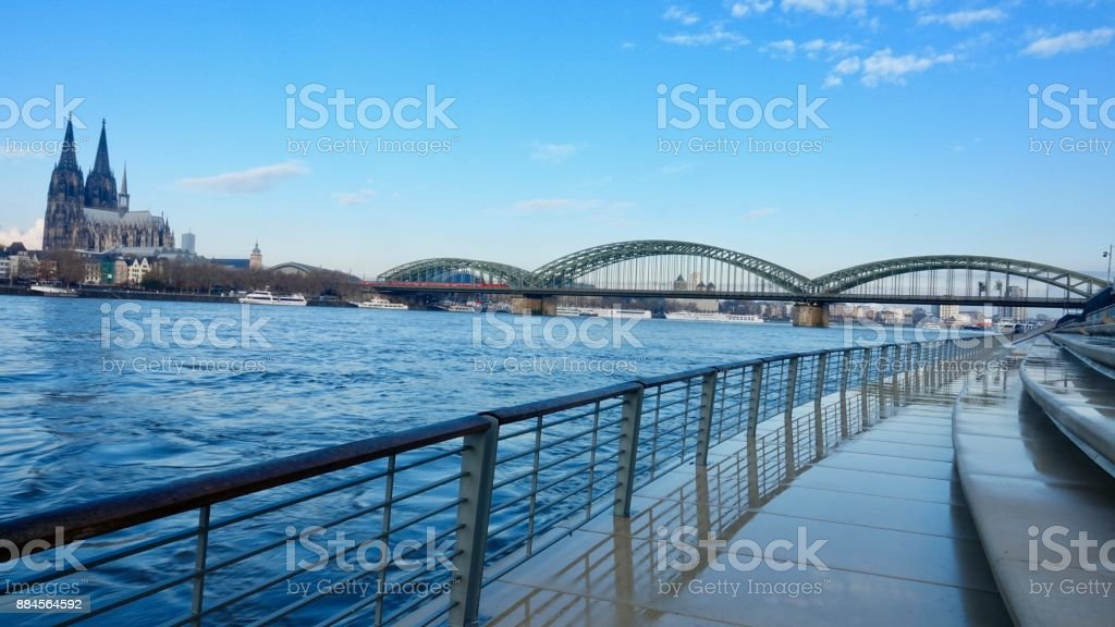 Cologne Cathedral and city panorama view stock photo