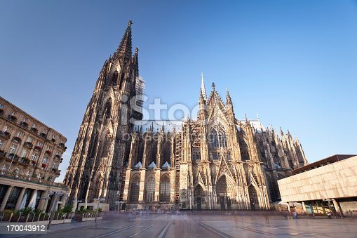 The famous Cologne Cathedral. Long exposure shot to blur all people.