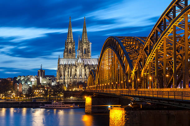 katedra w kolonii przez noc, niemcy - niemcy zdjęcia i obrazy z banku zdjęć