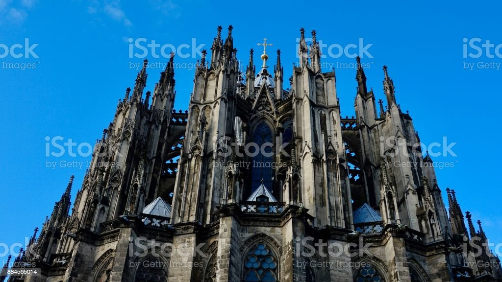 Cologne Cathedral, back view on cathedral stock photo