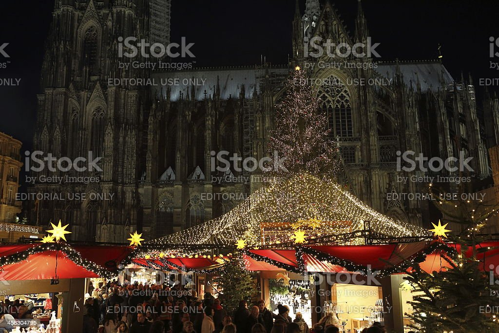 Cologne Cathedral Christmas Market royalty-free stock photo