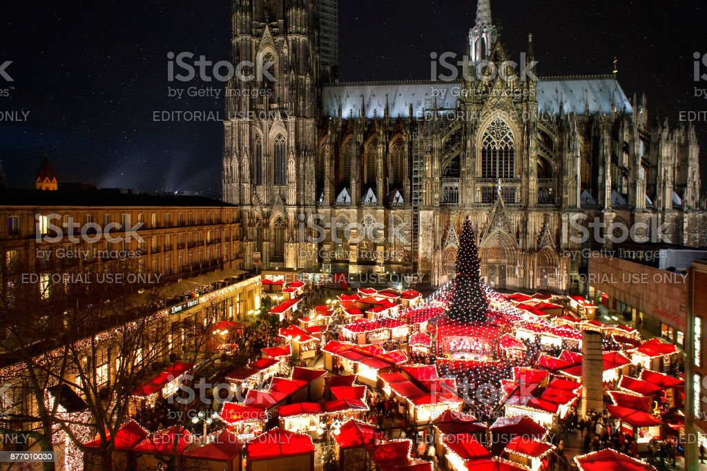 cologne cathedral christmas market royalty free stock photo - Cologne Christmas Market