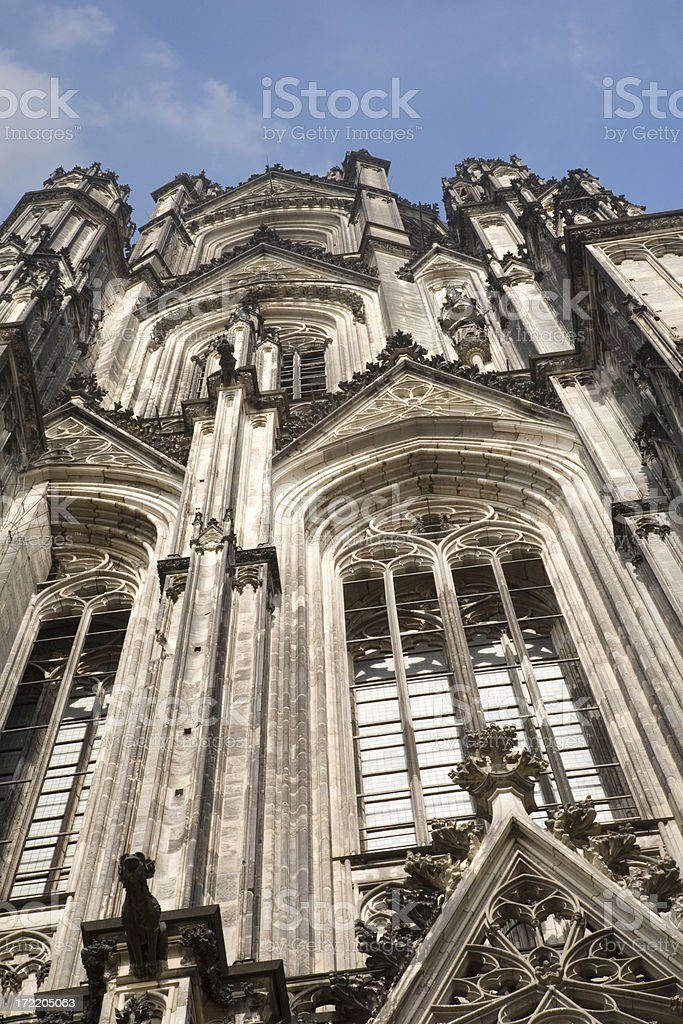 "Cologne cathedral gothic windows ""Detail of the Gothic front facade of the Cologne Cathedral, Germany."" Architecture Stock Photo"