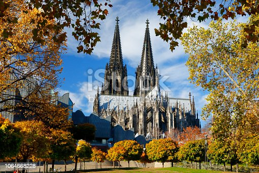 Cologne Cathedral in brilliant autumn light