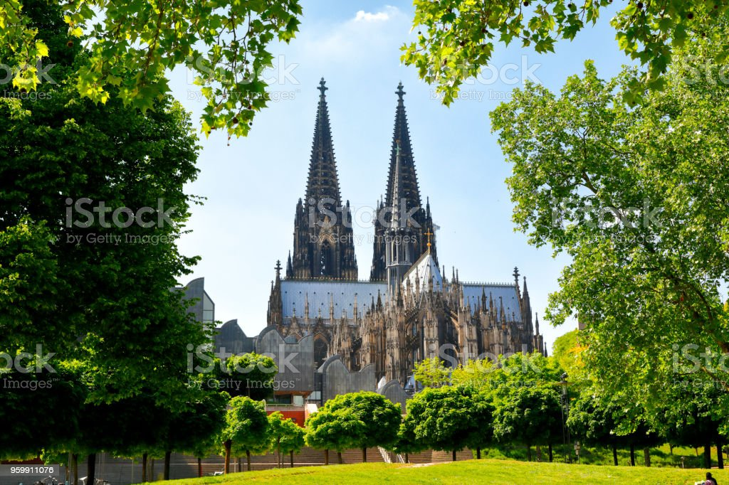 Cologne Cathedral in Spring, Cologne, Germany stock photo