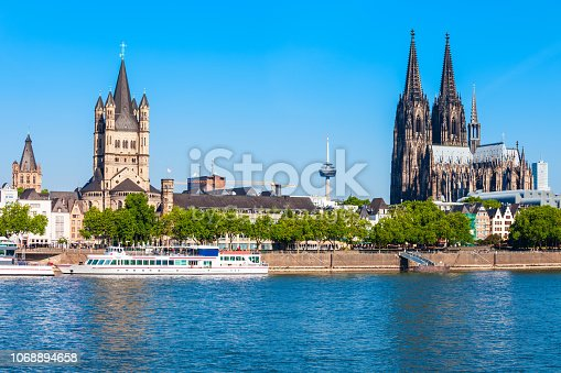 Cologne Cathedral and Great Saint Martin Church is a Romanesque Catholic church in Cologne, Germany