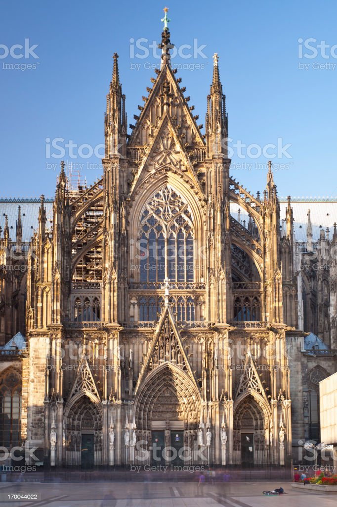Cologne Cathedral Side Portal stock photo