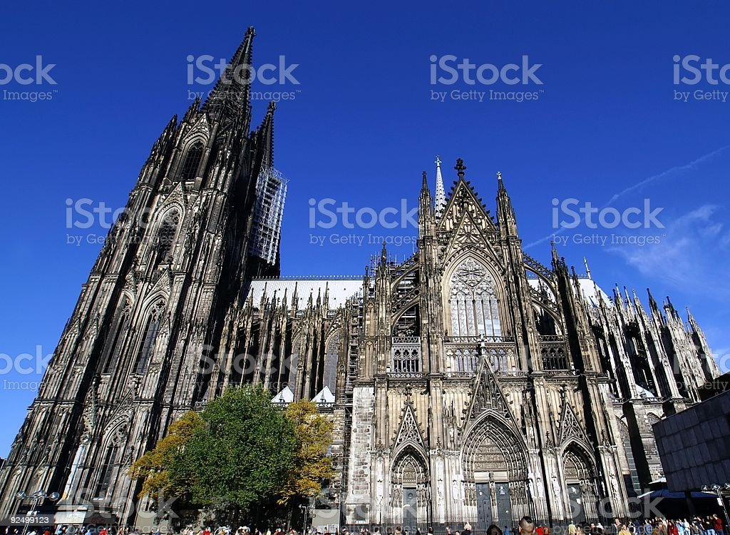 Cologne Cathedral side view royalty-free stock photo
