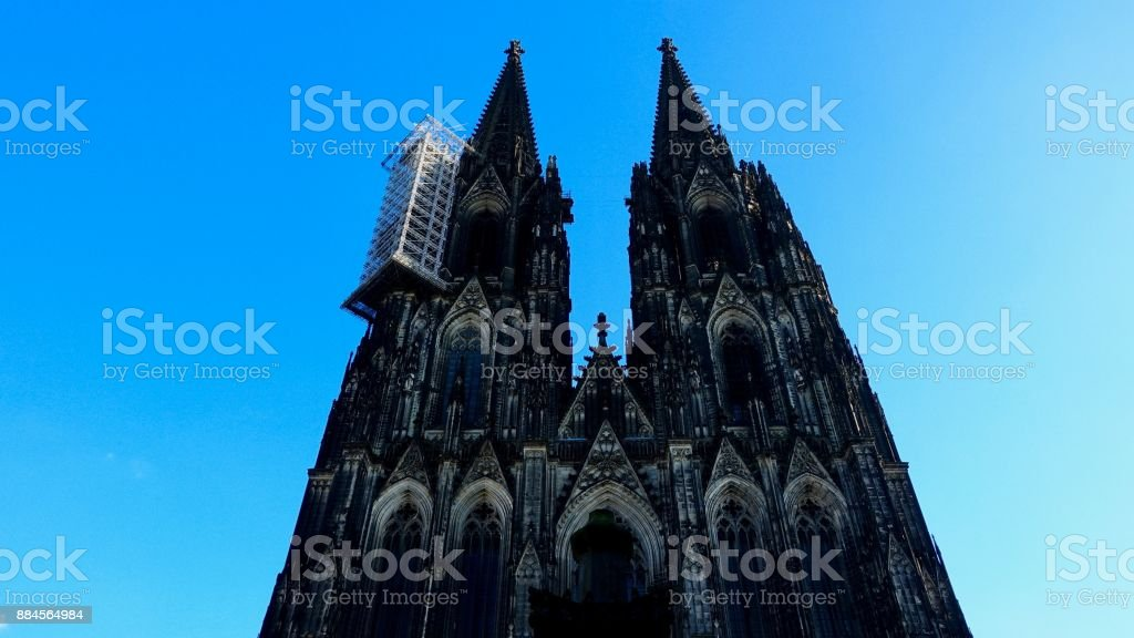 Cologne Cathedral, towers stock photo