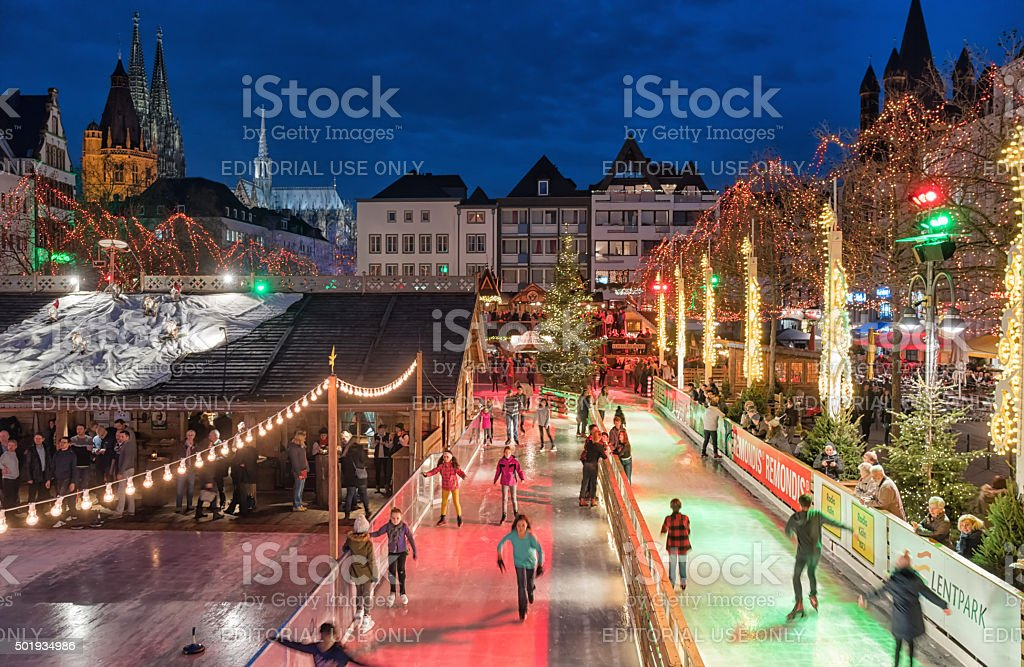 Cologne Christmas Market Stock Photo & More Pictures of Cathedral ...