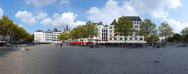 cologne germany - heumarkt. panorama - restaurant köln stock-fotos und bilder