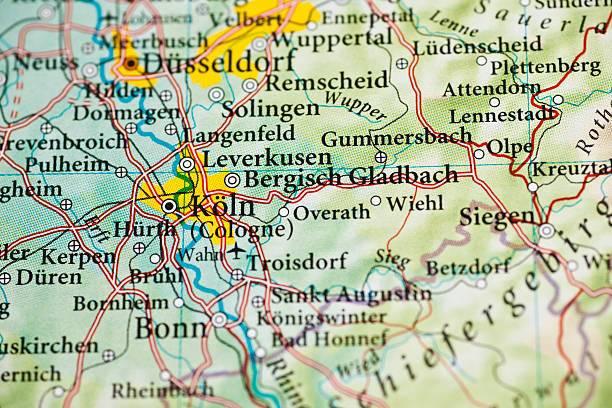 cologne map germany city map pictures images and stock photos