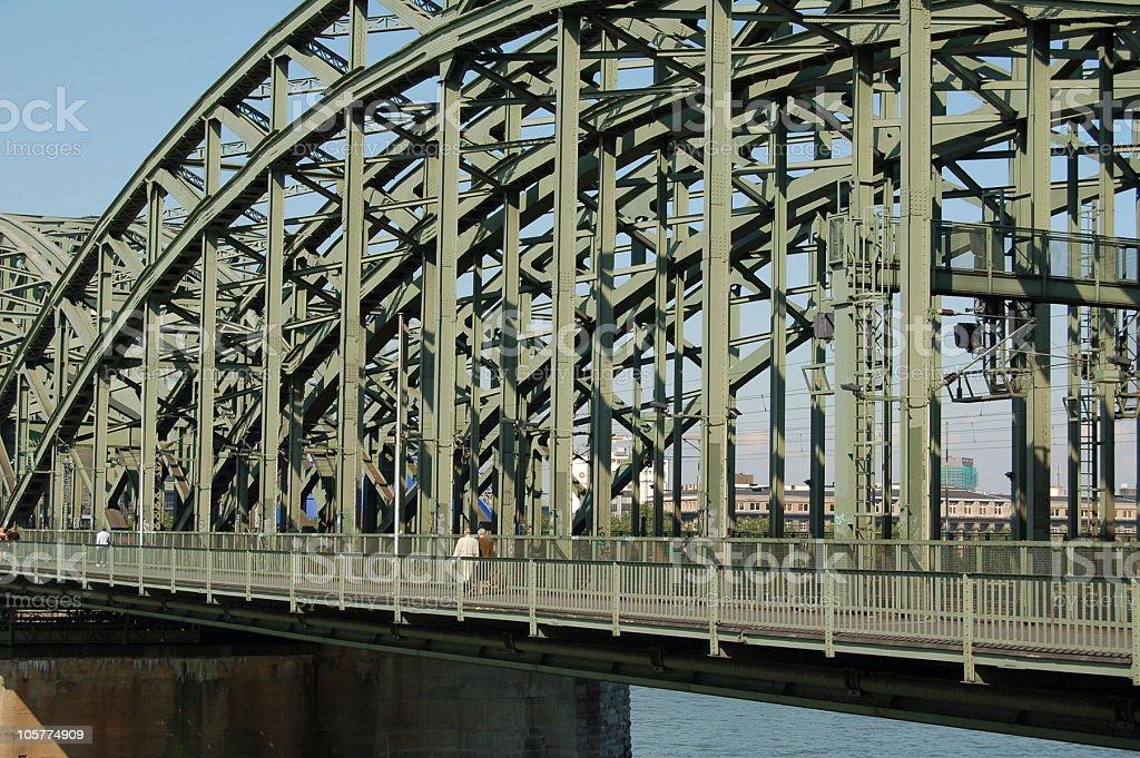 Cologne Hohenzollern bridge royalty-free stock photo