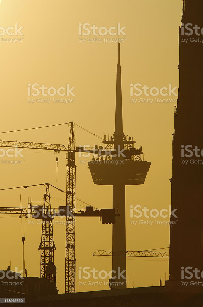 Cologne, Radio tower royalty-free stock photo
