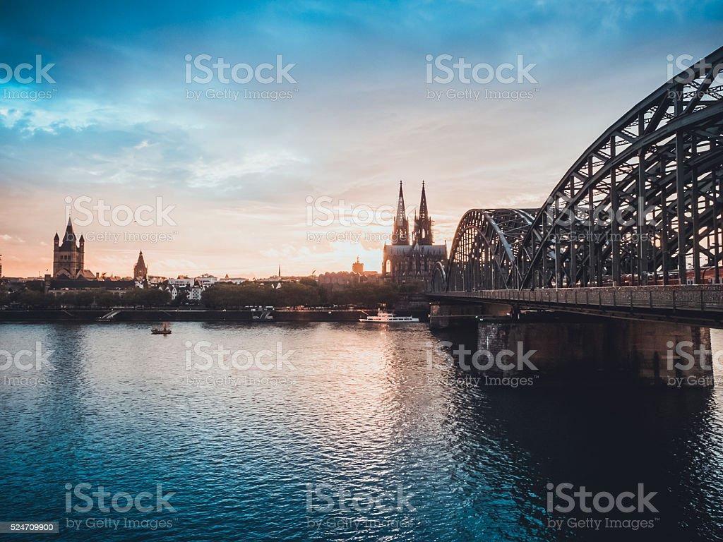 Köln fluss Lizenzfreies stock-foto