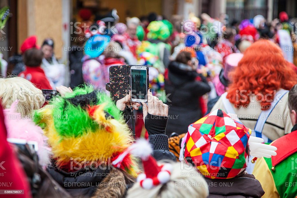 Cologne Rosenmontagszug 2015 stock photo