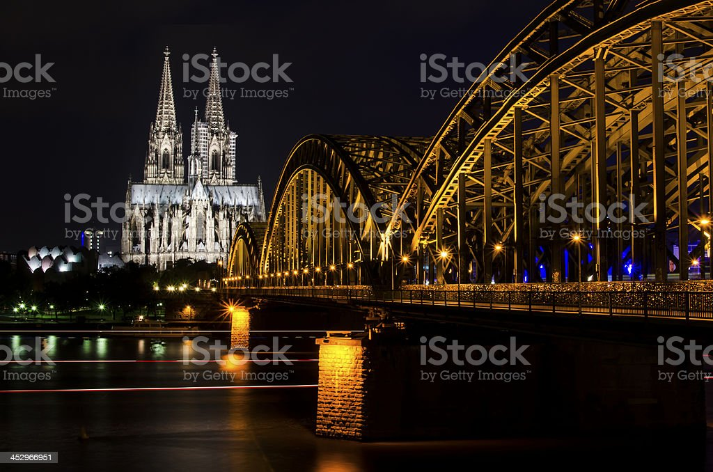 Cologne Skyline royalty-free stock photo