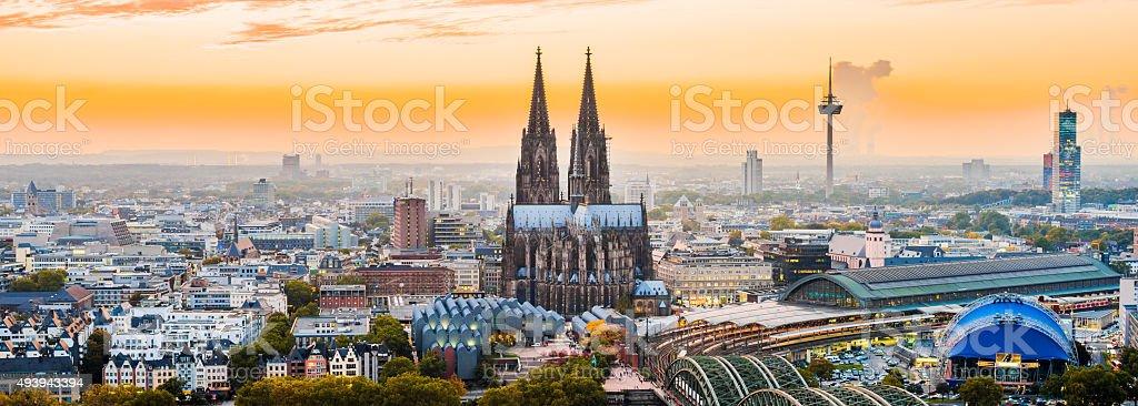 Cologne Skyline stock photo