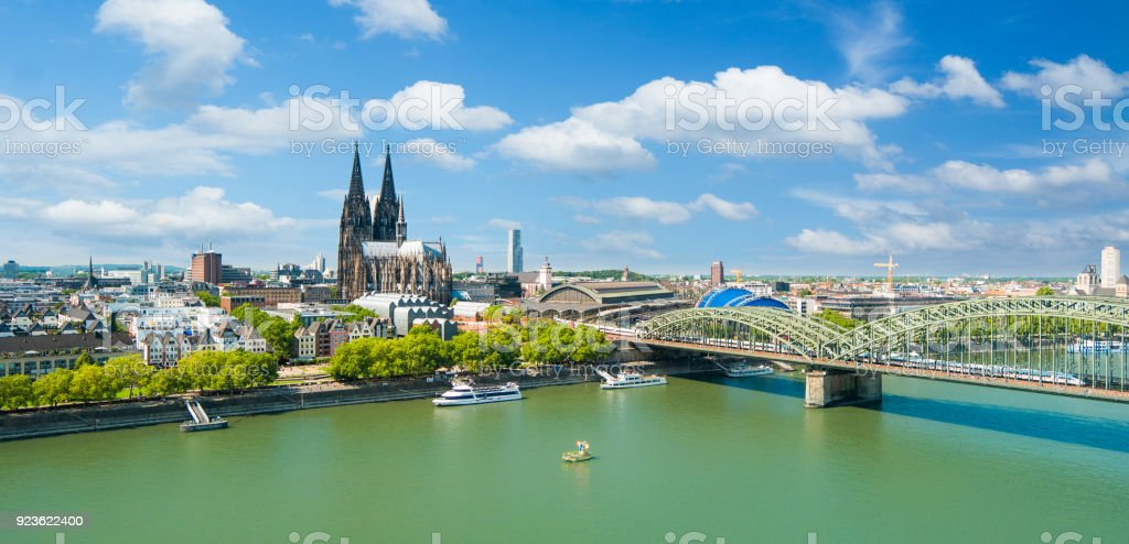 Cologne Skyline - Royalty-free Architecture Stock Photo