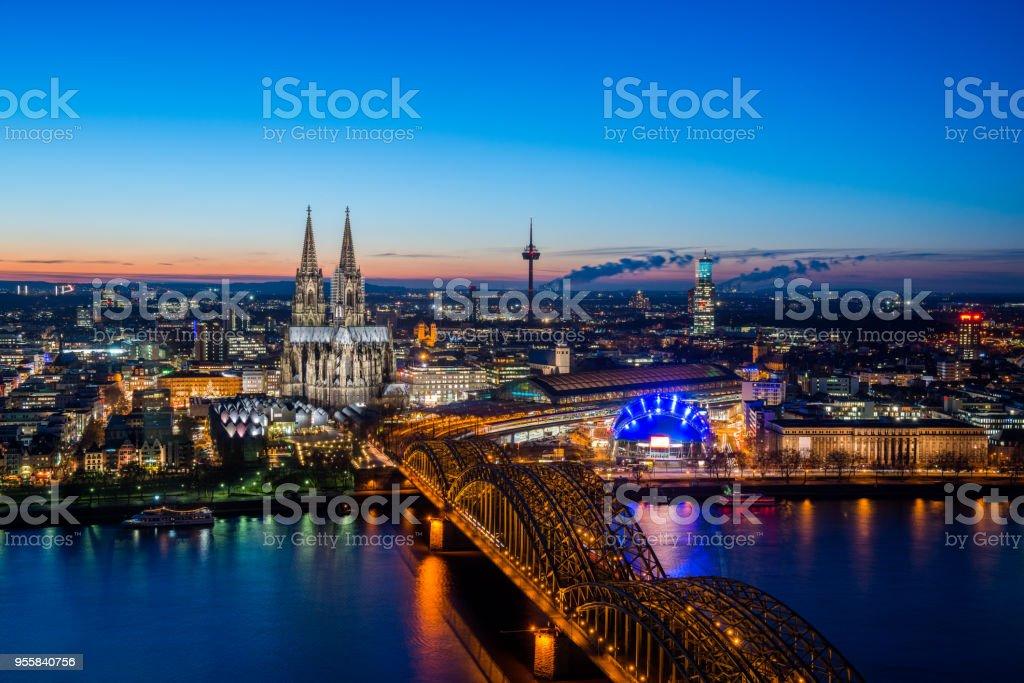 Skyline von Köln Lizenzfreies stock-foto