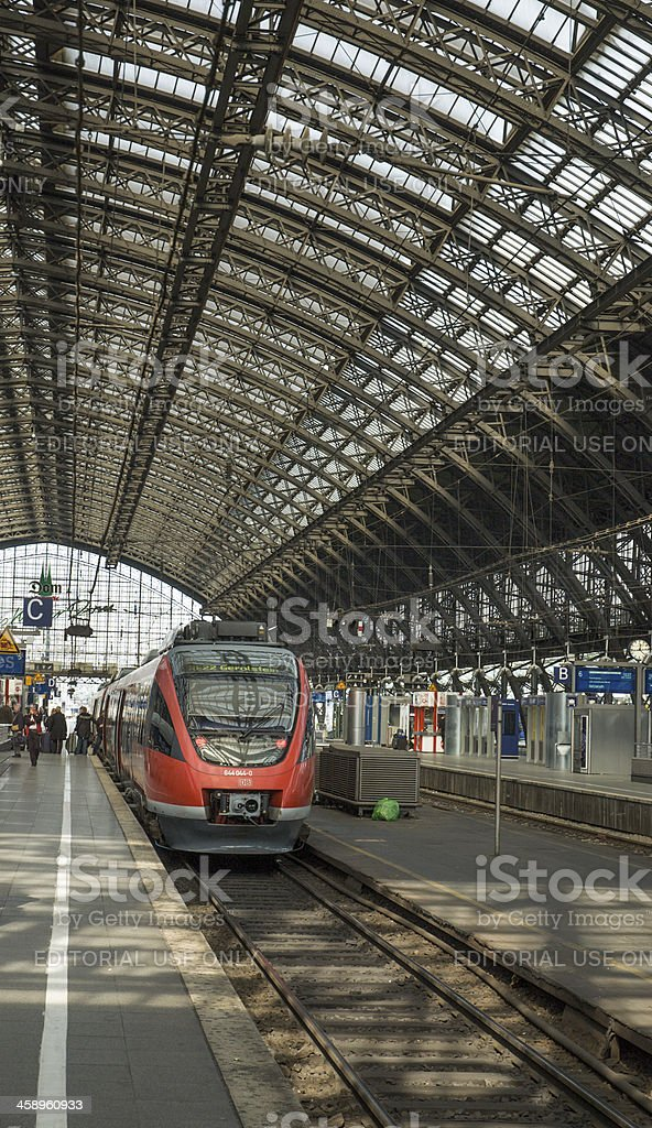 Cologne Train Station royalty-free stock photo
