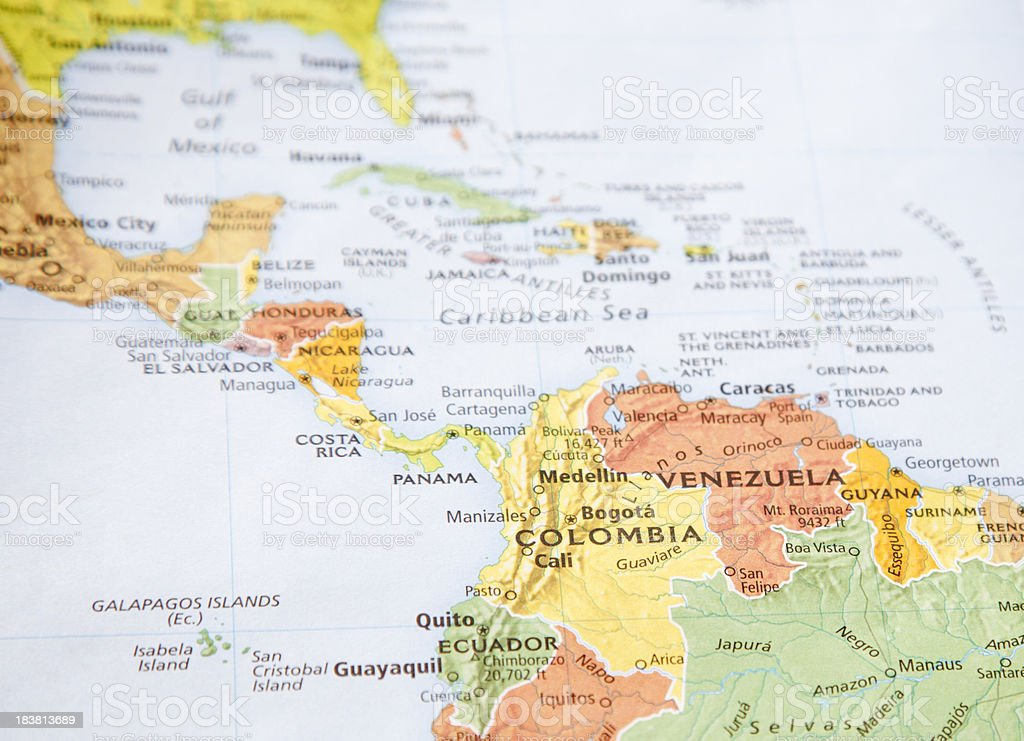 Colombia and Venezuela stock photo