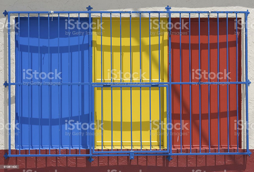 Colombia behind bars royalty-free stock photo