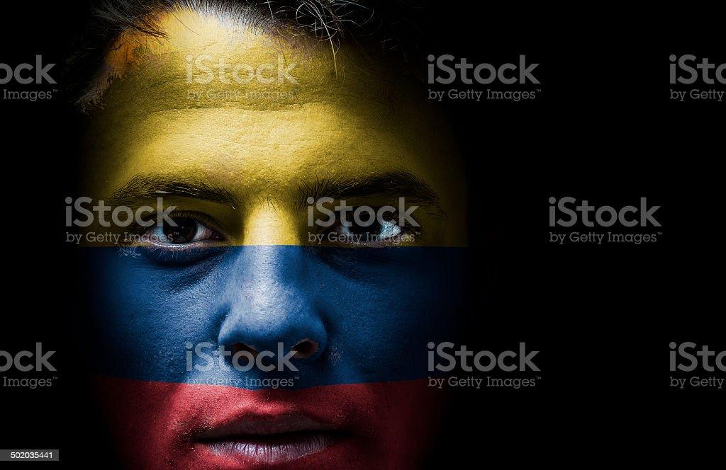 Colombia, bandera colombiana en superficie - foto de stock