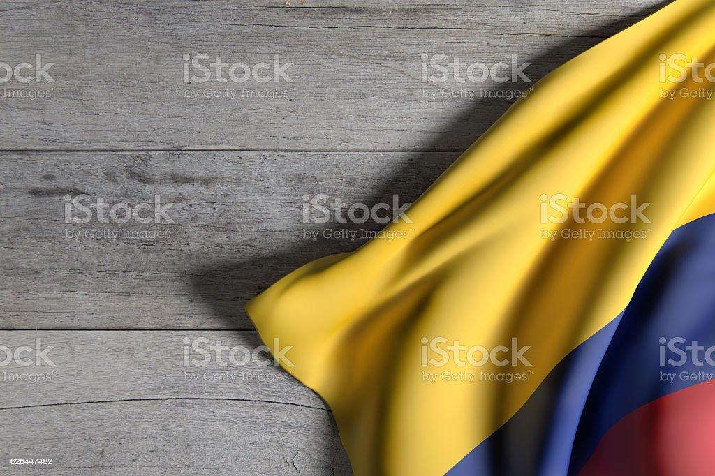 Colombia bandera Saludar con la mano - foto de stock