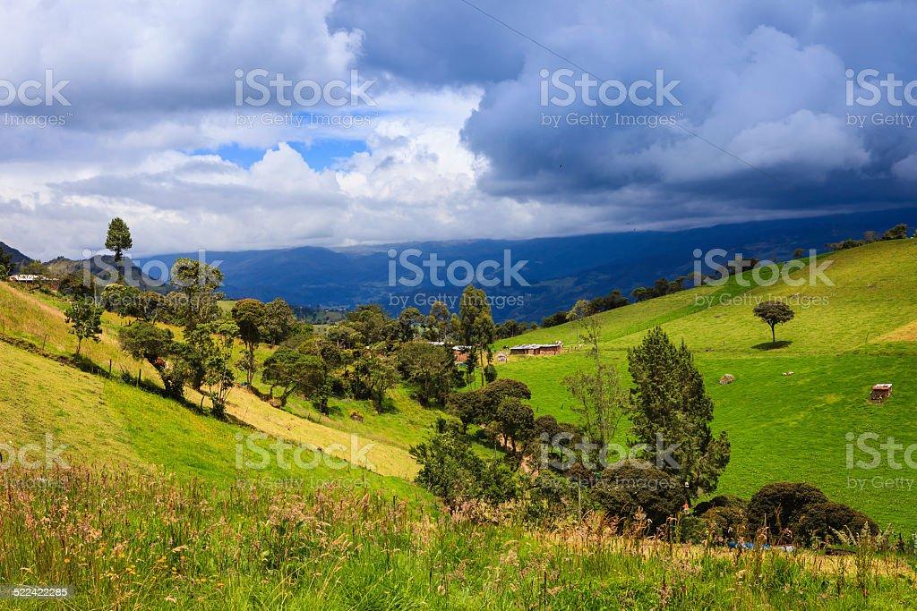 Kolumbien – wunderschönen ländlichen Aspekt der Anden – Foto